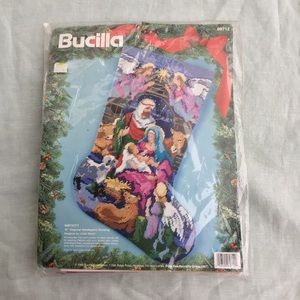 Vintage Bucilla Christmas Nativity Stocking Kit